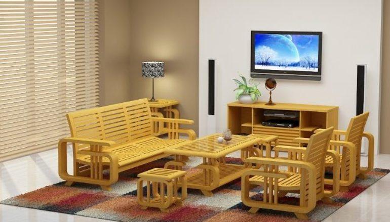 Cách chọn mua ghế sofa gỗ cho phòng khách