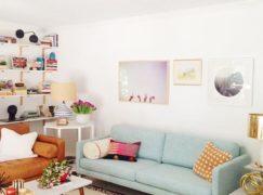 Ghế sofa nỉ nhỏ cho không gian phòng khách nhỏ xinh