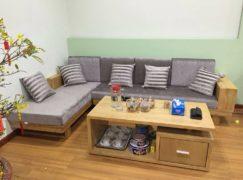 Những mẫu ghế sofa gỗ sồi cho phòng khách hiện đại