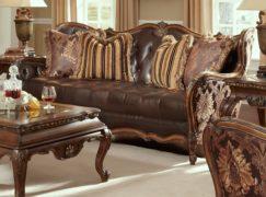 Sofa khung gỗ bọc da luôn mới đẹp nhờ lau chùi đúng cách