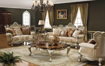 Sofa phong cách cổ điển châu Âu cho phòng khách sang trọng